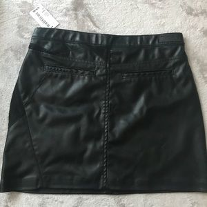 Blank NYC black faux leather skirt